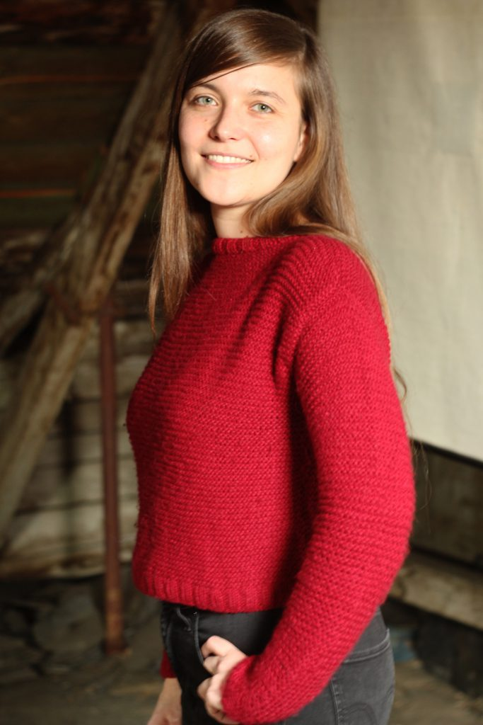 Cuzco Sweater in Weinrot