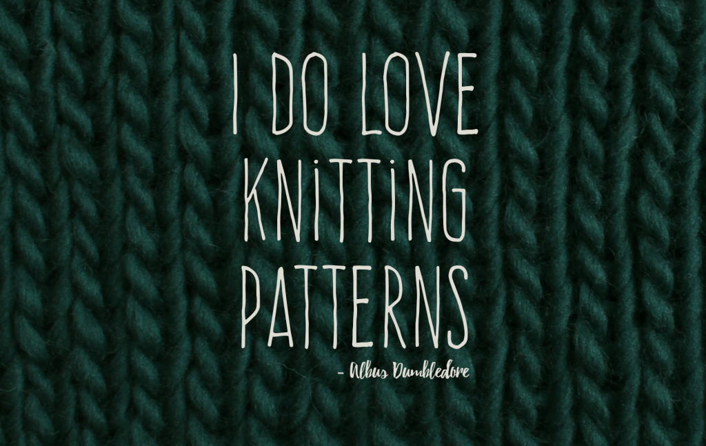 "Desktophintergrund ""I do love knitting patterns"""