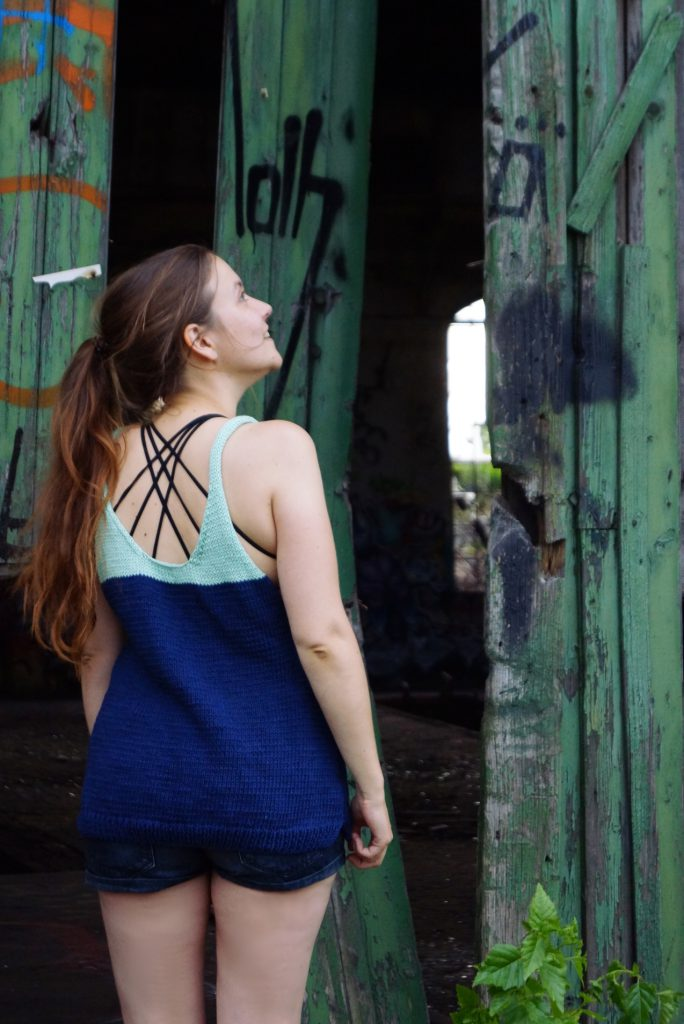 Outfitfoto: Selbstgestricktes Tank Top aus Baumwolle