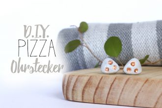 DIY Pizza Ohrstecker