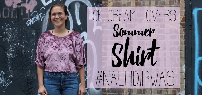 Ice Cream Lovers Sommershirt für #naehdirwas